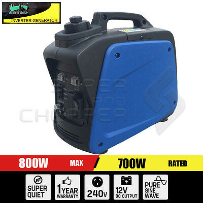 New 4 Stroke Pure Sine Wave Power Camping Inverter Generator Max 800W Rated