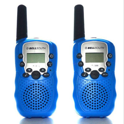 Mini Walkie Talkie for Child Amateur 2 PCS Bell South T-388 5km UHF 2 Way Radio