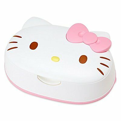 From Japan,Hello Kitty Anime Wet Wipes 80 Sheets with Case