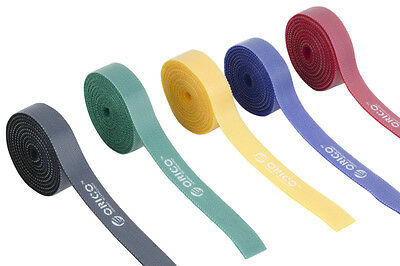 5 Multi-Color  Plastic Nylon Mark Label Belting Ribbon  Cable Ties 1m Per Piece