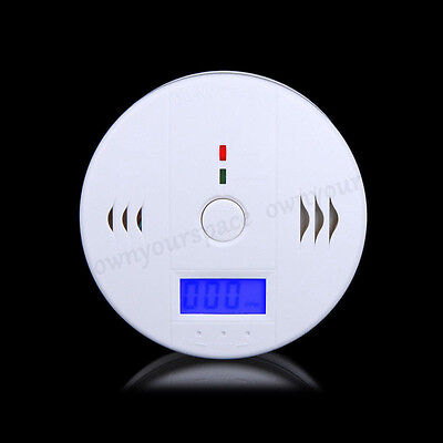 LCD CO Carbon Monoxide Poisoning Gas Warning Sensor Alarm Detector Home Safety