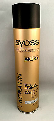 2x Syoss Keratin Style Perfection Haarspray extra starker Halt 400ml(1L/12,49€)