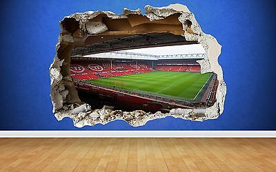 Liverpool Wall Sticker 3D Smashed Anfield Stadium Bedroom Football Boys Art