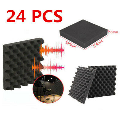 10PCS Acoustic Foam Egg Panels Tiles Studio Sound Proofing Treatment Absorption