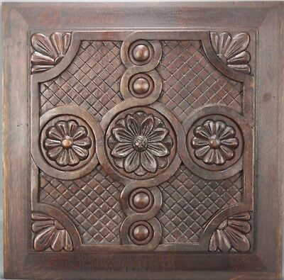 Antique  Architectural Wood Panel French Country