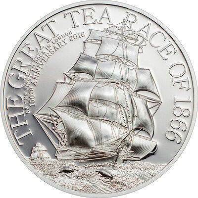 2016 The Great Tea Race 8g Proof Silver Coin