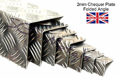 2.0mm Aluminium Chequer Plate Folded Angle Corner Protector