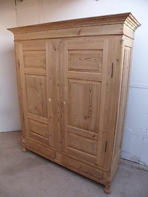 A Truly Superb Georgian Antique Pine 2 Door Knockdown Wardrobe to Paint/Wax