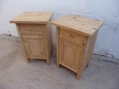 A Cracking Pair of Small Antique Pine Bedside Cabinets to Paint/Wax
