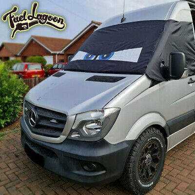 Crafter Mercedes Sprinter Window Screen Cover Blind Camper Van Wrap Eyes Blue