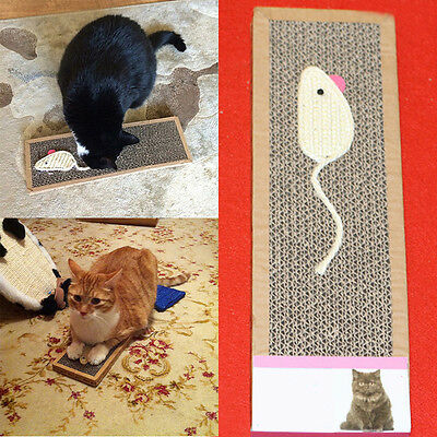 Pet Cat Kitten Corrugated Scratch Board Pad Soft Bed Claws Care Toy with Catnip