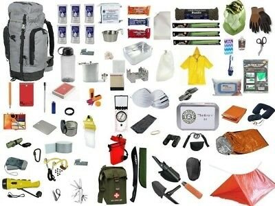 3 Day Grey Emergency Survival Kit Bug Out 45L Bag Disaster Earthquake 72 Hour