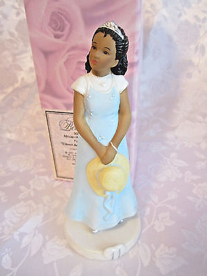 "2001 Enesco NIB African American Age 11 Girl Figurine ""Eleven Amazing Events"" 6"""