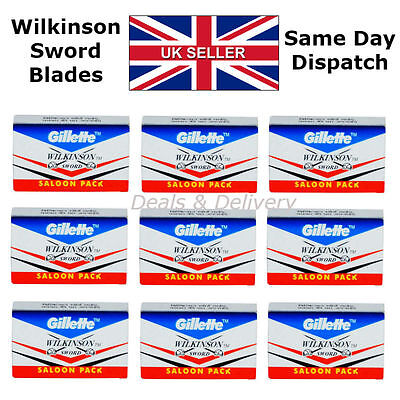 Wilkinson Sword Double Edge Cut Throat Safety Shaving Razor's Blades 5 20 50 100