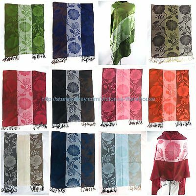 US SELLER , 10PC Wholesale women gift shawl retro flower pashmina scarf viscose