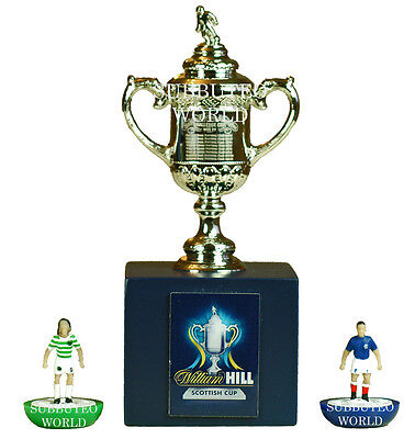 SCOTTISH FA CUP & DISPLAY BOX. OFFICIAL LICENSED PRODUCT. SUBBUTEO SOCCER. 70mm
