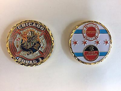 Chicago Fire Department CFD Squad 2 Challenge Coin