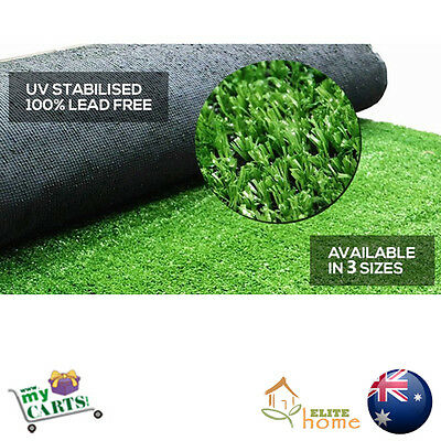 New 3 SIZES Artificial Grass Synthetic Turf Plastic Green Plant Lawn Flooring