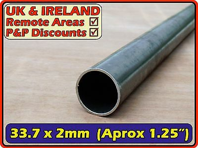 Mild Steel Round Tube (pipe, post, pole, tubing) | 33.7mm (>30mm) 2mm | metre ft