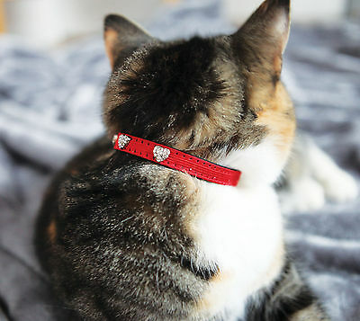 Rosewood Christmas Cat Collar With Bell Xmas Design Diamante Hearts
