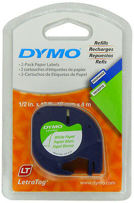 DYMO LetraTag Labeling Tape for LetraTag Label Makers, Black print on White pape