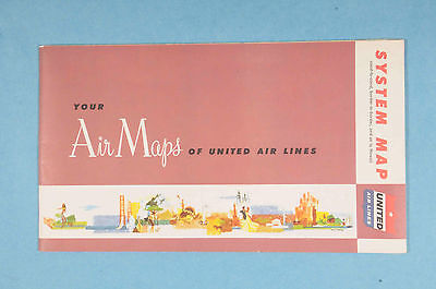 VINTAGE 1956 UNITED Airlines Air Fleet System Route Map ... on capital airlines route map, delta air lines route map, empire airlines route map, southwest airlines route map, british airways route map, us airways route map, aer lingus route map, westjet route map, frontier airlines route map, philippine airlines route map, singapore airlines route map, united flight map, qantas route map, jetblue route map, spirit airlines route map, american airlines route map, alaska airlines route map, scandinavian airlines route map,