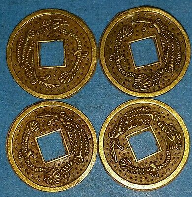 Chinese Feng Shui Coins Lucky Dragon Phoenix Coins Enhance Health And Fortune