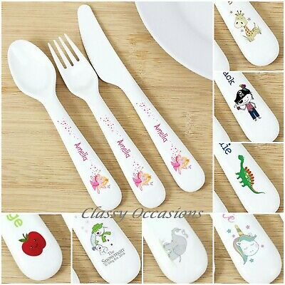 Personalised Childrens Cutlery Set Christening Baptism Naming Day New Baby Gift