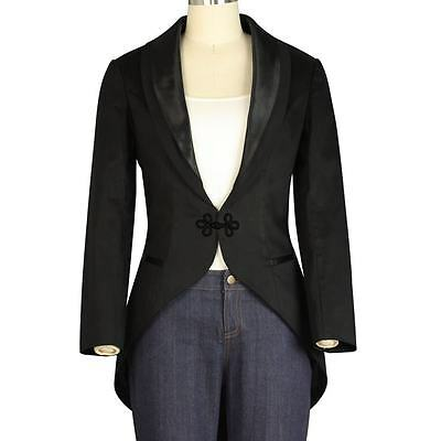 Chic Star Women's Tuxedo Jacket With Tails Costume Punk Lined Retro Cosplay
