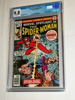 MARVEL SPOTLIGHT #32 CGC 9.8 WHITE PAGES Origin & 1st Appearance Spider-Woman