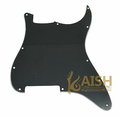 11 Hole Blank ST Strat Pickguard Scratch Plate No Pickup Holes Black 3 Ply