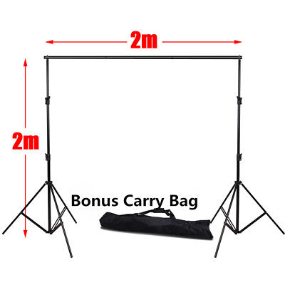 2x2m Photography Photo Studio Backdrop Support Background Stand System Kit Set