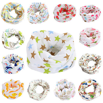 Winter Warm Boys Girls Collar Baby Scarf Kids Cartoon O Ring Neck Scarves 2-10T