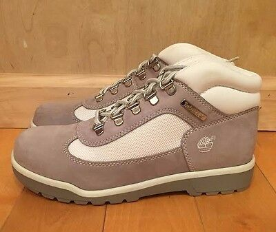 630bb7f764a TIMBERLAND FIELD BOOT Grey White Vintage Gs Kids Youth Sz 4-7 Y 41966