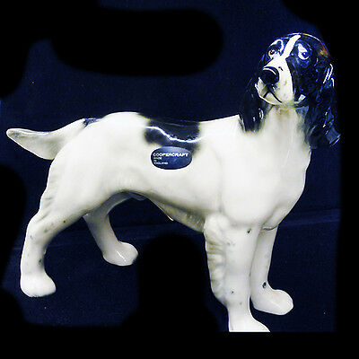 "SPRINGER SPANIEL 7.25"" tall COOPERCRAFT  NEW NEVER SOLD made England Porcelain"