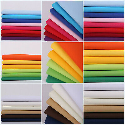 8oz Plain Color 100% Cotton Canvas Fabric Duck Cloth Upholstery Material 58""