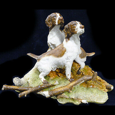 "SPRINGER SPANIEL PAIR 4.75"" tall  SHARRAT & SIMPSON made England NEW NEVER SOLD"