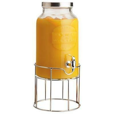 Glass Drink Dispenser, 5.6L, Maxwell & Williams 'Olde English', Gift Boxed