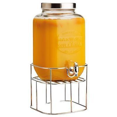 Glass Drink Dispenser, 8L, Maxwell & Williams 'Olde English', Gift Boxed