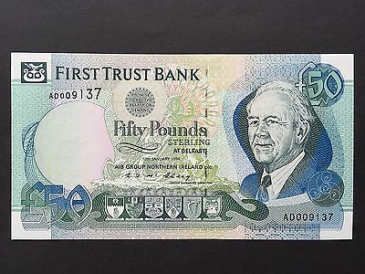 Northern Ireland 50 Pounds P134a First Trust Bank Dated 10th January 1994 UNC