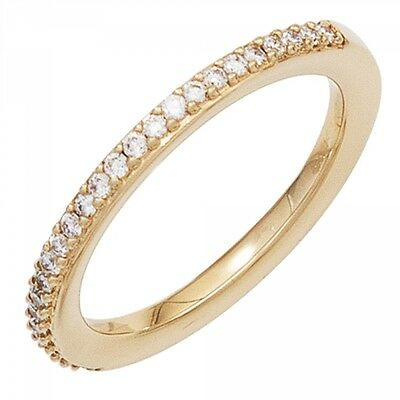 Damen Ring 585 Gold Gelbgold 26 Diamanten Brillanten 0,21ct. Goldring