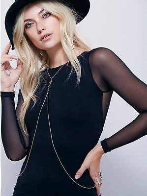 Free People Gold Serenity Body Chain