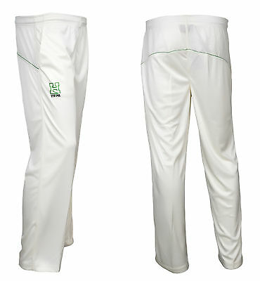 Premium Quality Cricket Trousers Match Playing Pants Bottoms Kit  Off White
