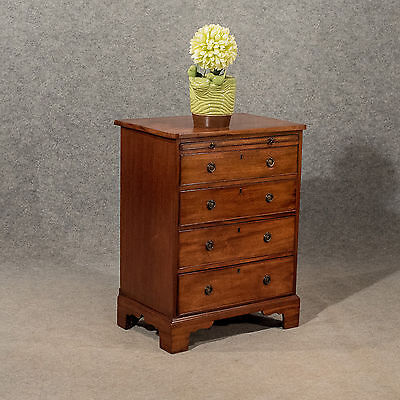 Antique Small Bachelors Chest of Drawers Bedside Table Mahogany Victorian c1900