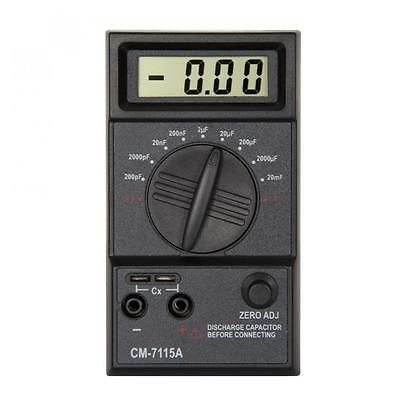 20mF-200pF LCD Screen Capacitance Meter Digital Capacitor with Testing Leads