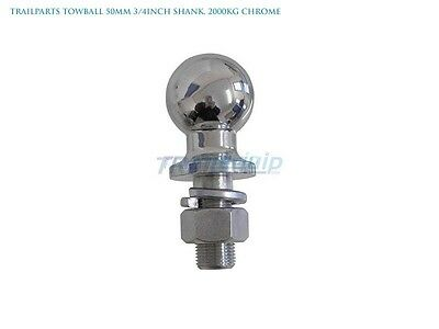 New Trailparts Towball 50mm 3/4inch Shank 2000kg Chrome Ships to NZ Only