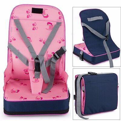 Portable Baby Dinning Booster Seat Travel High Chair Light Weight Foldable UK