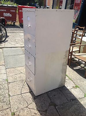 vintage metal painted filing cabinet retro