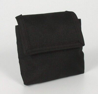 """EMPTY BLACK FIRST AID CORDURA POUCH WITH BELT LOOP -EXTRA SMALL -4"""" x 3.5"""" - CPR"""
