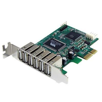 StarTech PEXUSB7LP 7 Port PCIe Low Profile High Speed USB 2.0 Adapter Card